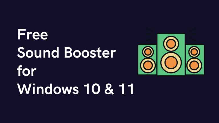 sound boosters for windows pc